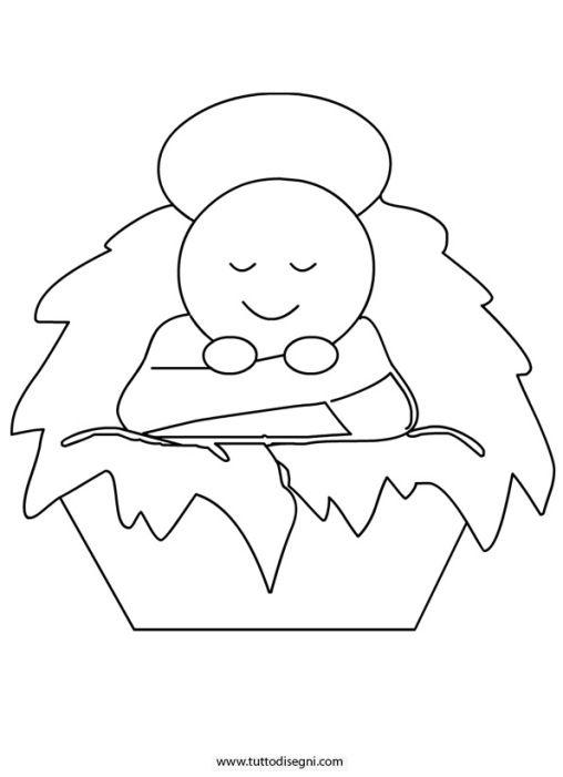 disegni da colorare su gesù bambino