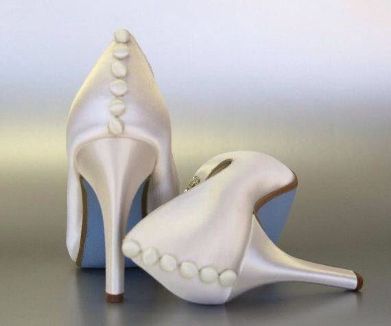 Wedding Shoes Ivory Wedding Shoes Satin Wedding Shoes Peep Toe Wedding Shoes
