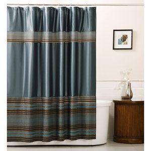 Home Fabric Shower Curtains Blue Shower Curtains Modern Shower
