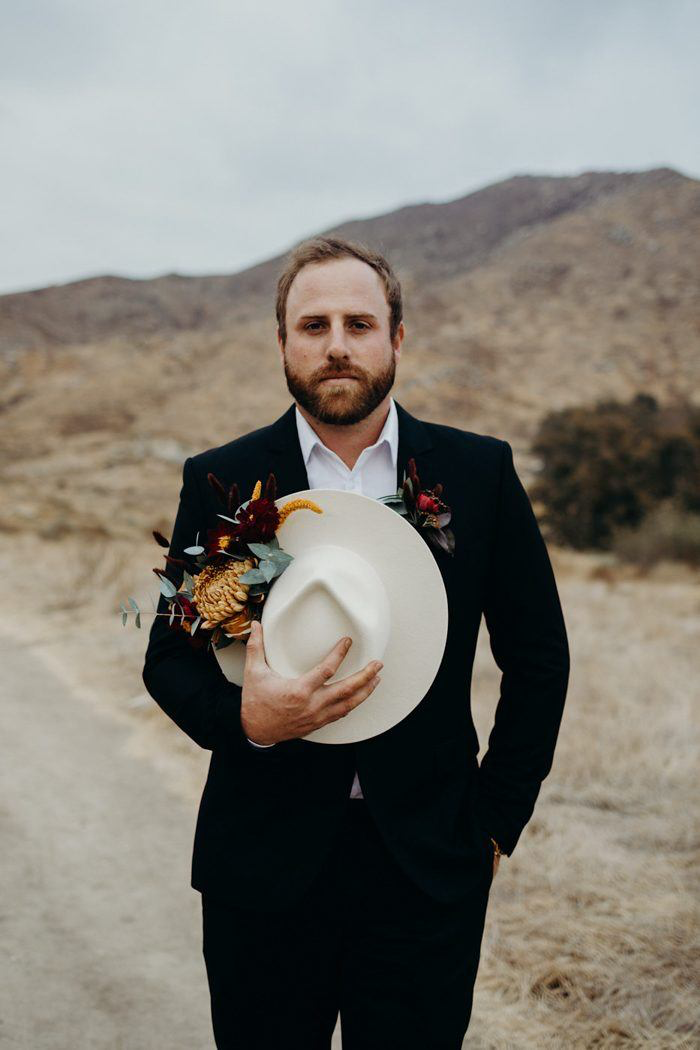 You're Gonna Wanna Copy The Rich Color Palette in This Desert Elopement Inspiration at Sycamore Canyon Trails | Junebug Weddings #colorpalettecopies You're Gonna Wanna Copy The Rich Color Palette in This Desert Elopement Inspiration at Sycamore Canyon Trails | Junebug Weddings #colorpalettecopies