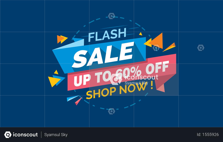 Premium Flash Sale Colorful Sale Banner Label Discount Sale Promo Sale Card Illustration Download In Png Vector Format Card Illustration Sale Banner Illustration