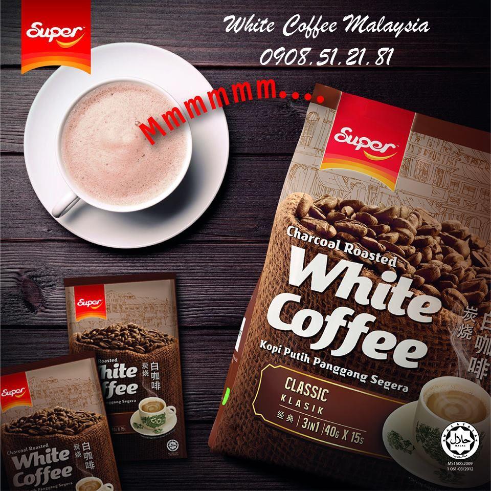 Super White Coffee Classic Cà phê trắng vị truyền thống