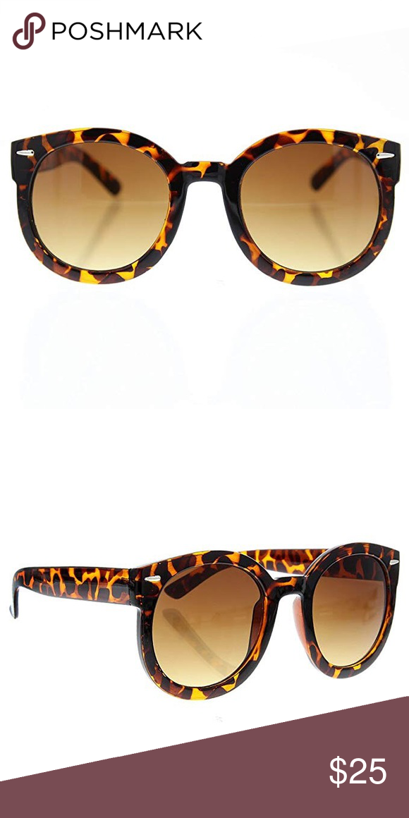 7634d6d3b2 CE Oversized Tortoiseshell Sunglasses Brand New. Round Fashion Sunglasses  with UV400 Protection. Bold