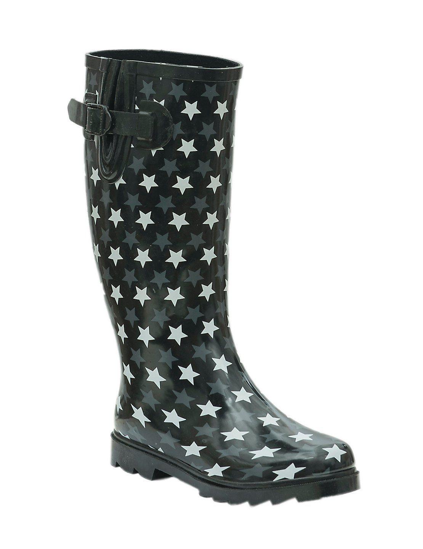 797bb716e6b Blazin Roxx Grey Feather Skull Round Toe Rain Boots   Fashion ...