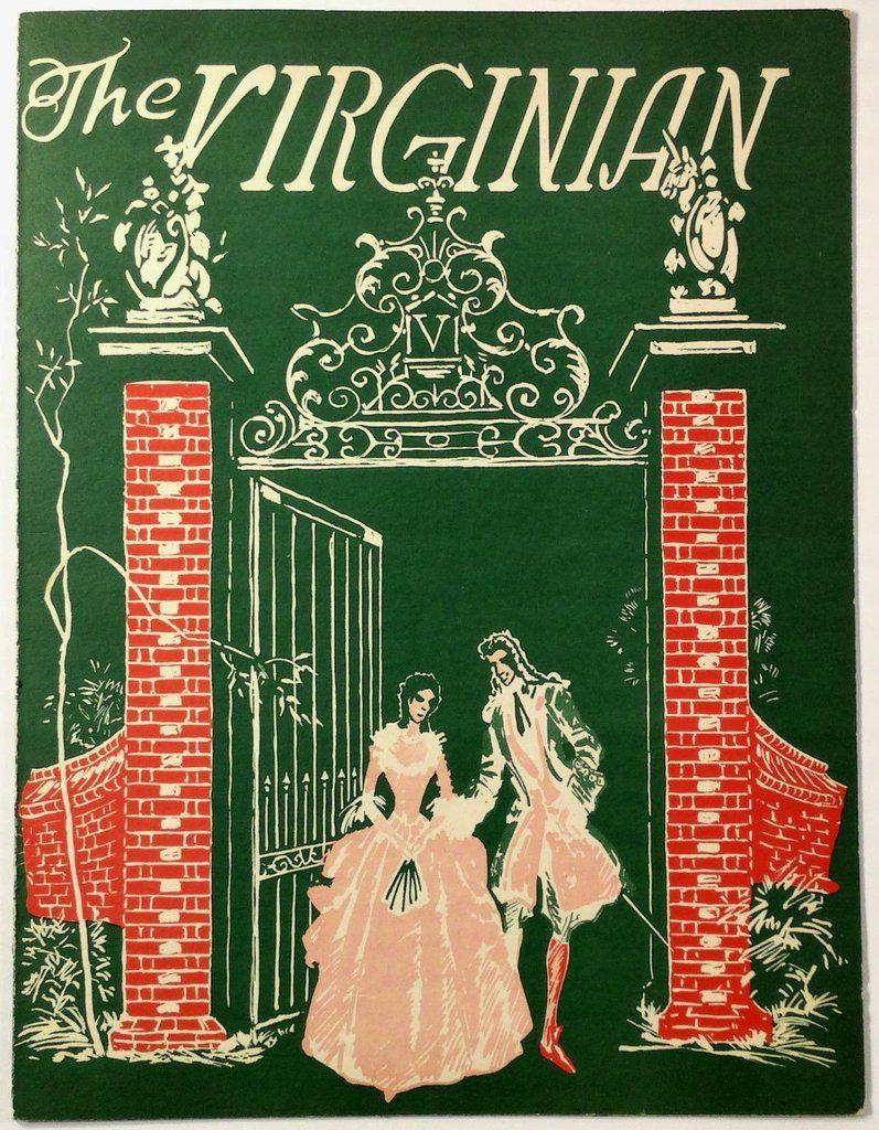 New Years Eve 1955 Vintage Menu THE VIRGINIAN Restaurant