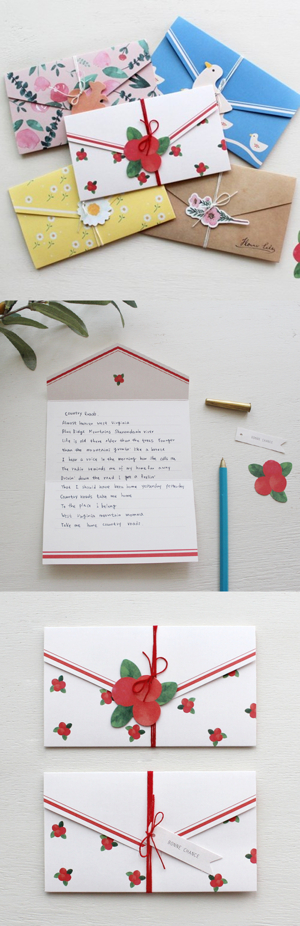 The Natural Pattern Envelope Card Makes Letter Writing Easier Than