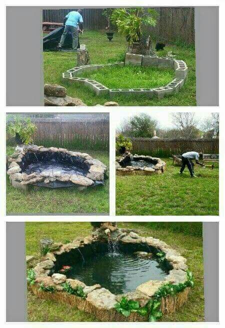 Make the pool this way in the ground