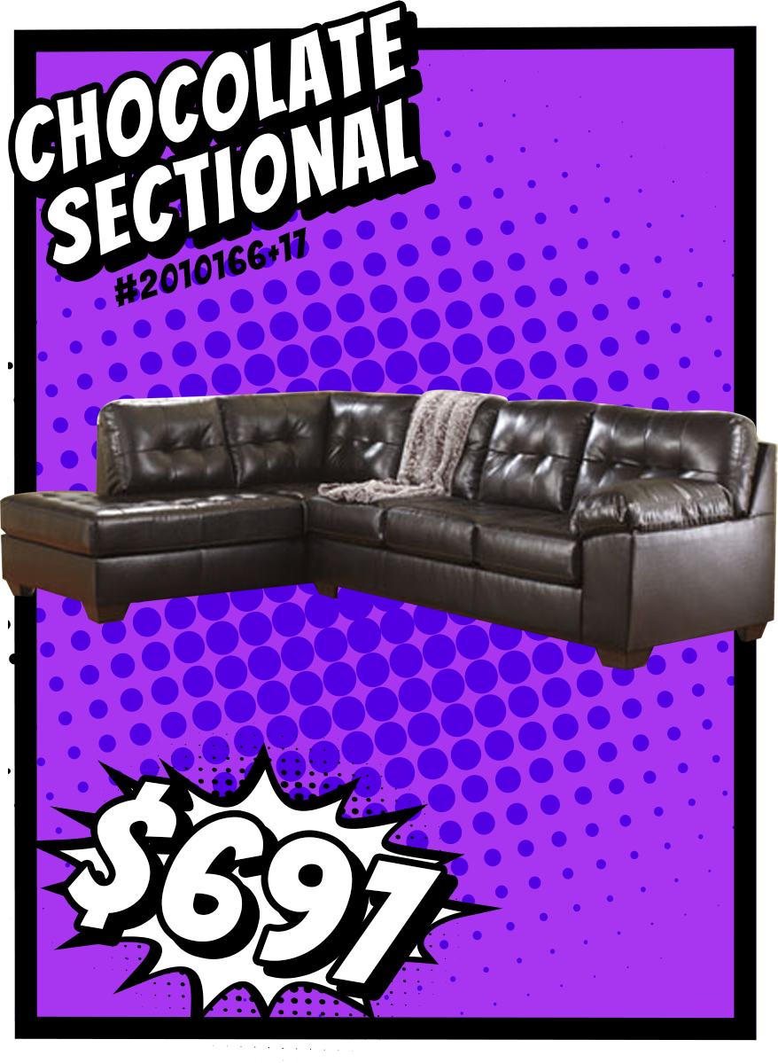 Best Alliston Durablend® Chocolate Sectional W Right Chaise 400 x 300