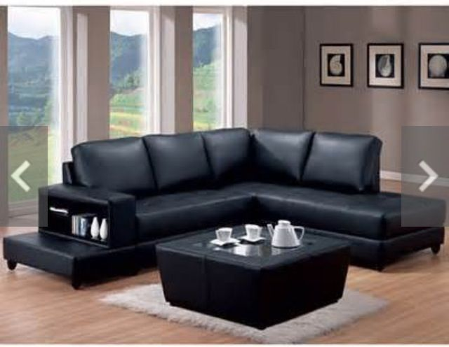 Best Grey Walls Black Couch 1 Black Furniture Living Room Black Leather Furniture Leather 400 x 300