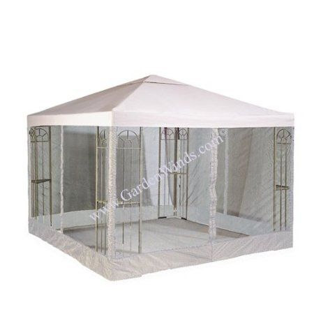 Garden Winds 10 X 10 Single Tiered Replacement Gazebo Canopy And Netting Set Beige 20 Gazebo Canopy Replacement Canopy Gazebo Replacement Canopy