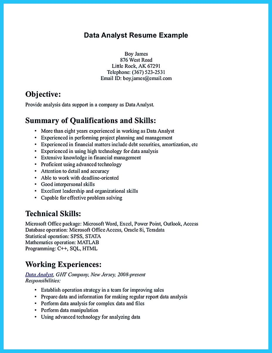 Technical Skills On A Resume If You Are A Business Analyst And You Just Seeking For A Job In A .
