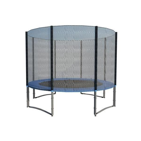 ExacMe 10-foot 4W Legs Trampoline with Safety Pad and Enclosure Net