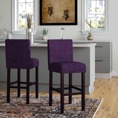 Wrought Studio Poe 26 Counter Stool Upholstery Eggplant Counter Height Bar Stools Counter Stools Stool