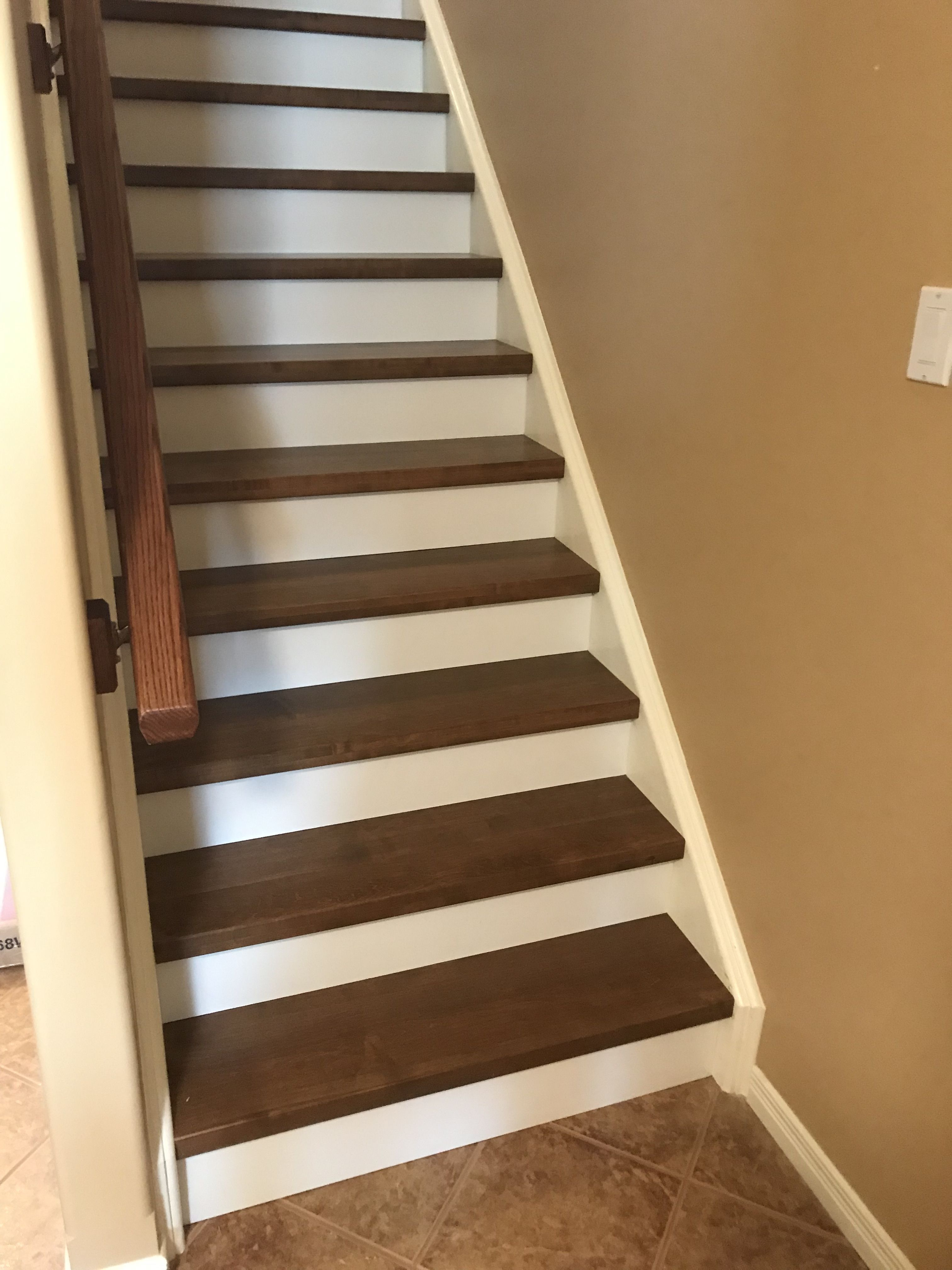 "Best Stair Tread Caps 3 4"" Custom Stained Fo Match Hardwood 400 x 300"