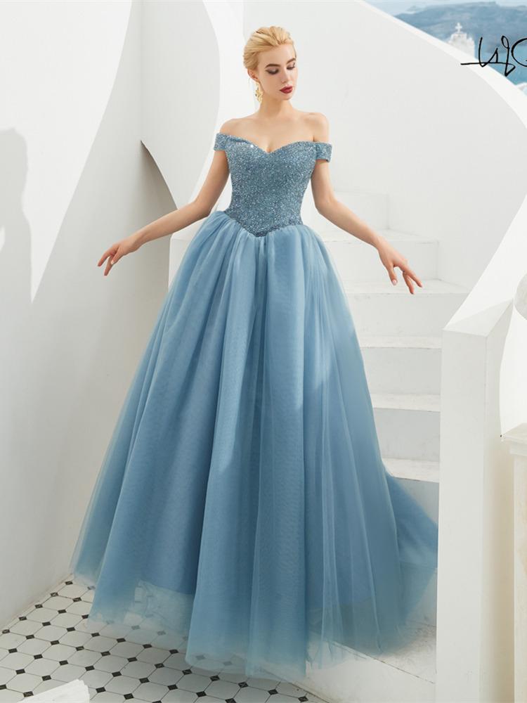 Pin em Brautjungfernkleider Abendkleid Hellblau