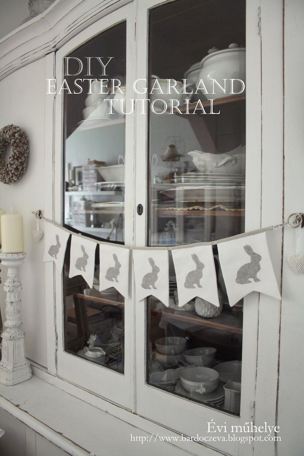 easter garland tutorial