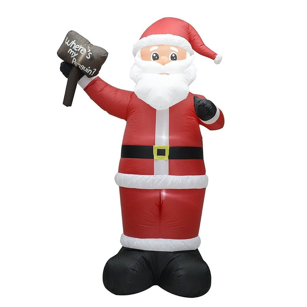 Inflatable Santa Claus Christmas Decoration Outdoor 8 Foot Lighted ...