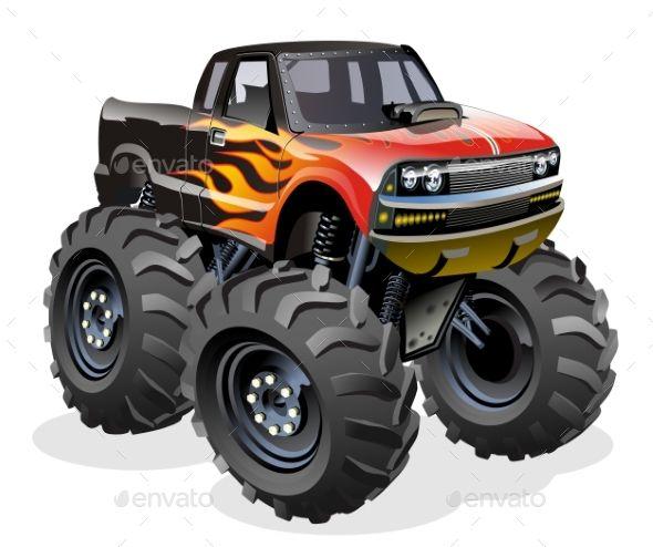 Cartoon Monster Truck Cartoon Monster Truck Monster Trucks Cartoon Monsters Monster