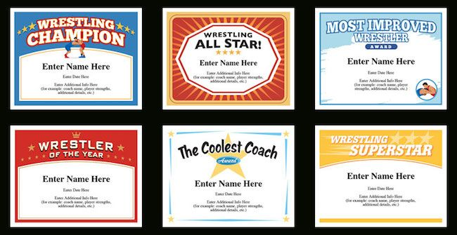 Wrestling certificate templates certificate and template personalize to each wrestler perfect for sports banquets and mid season pick me ups wrestler awards sports certificates certificate templates youth yelopaper Gallery