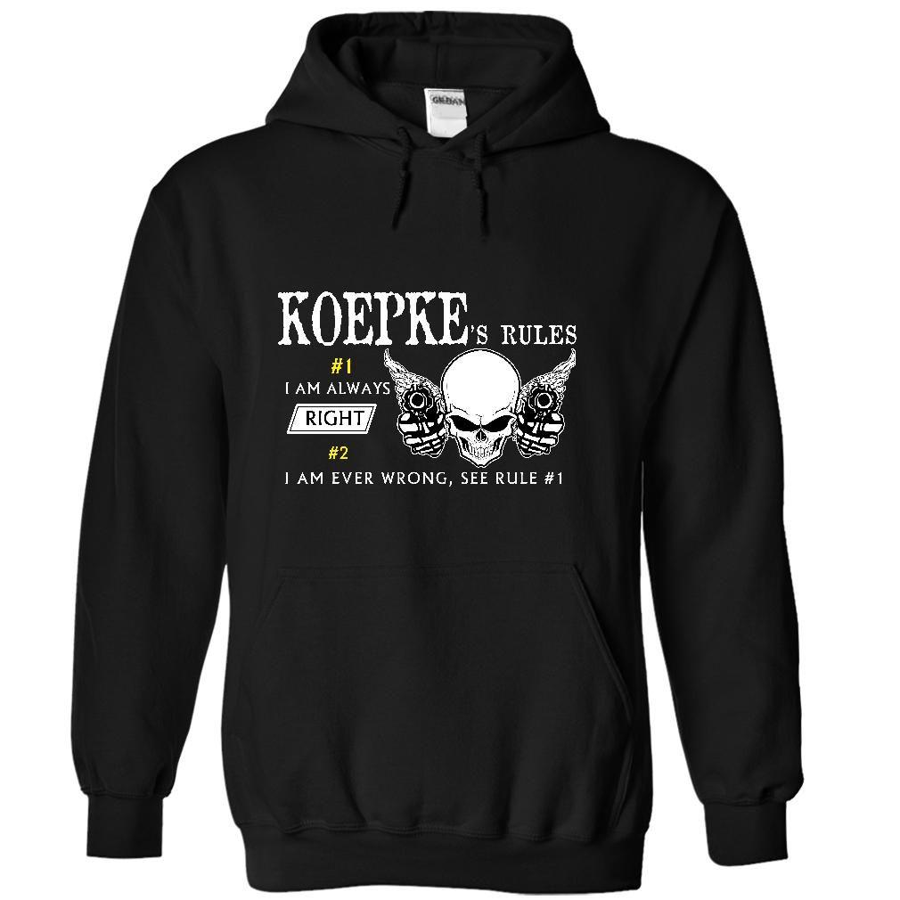 KOEPKE Rule 8 KOEPKEs Rules T-Shirts, Hoodies. ADD TO CART ==► https://www.sunfrog.com/Names/KOEPKE--Rule-8-KOEPKEs-Rules-4847-Black-45061364-Hoodie.html?id=41382
