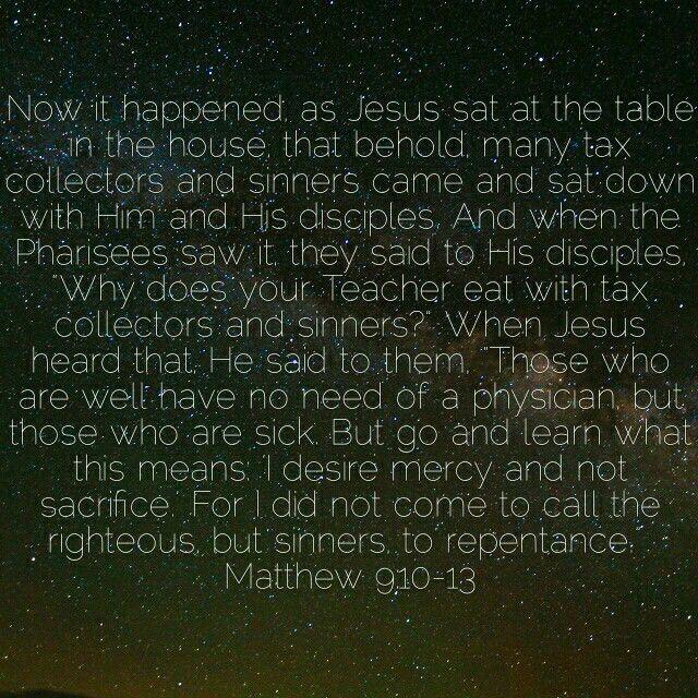 Matthew 9:10-13