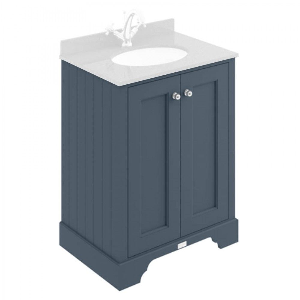 Best Bayswater Stiffkey Blue 600Mm 2 Door Basin Cabinet Basin 400 x 300