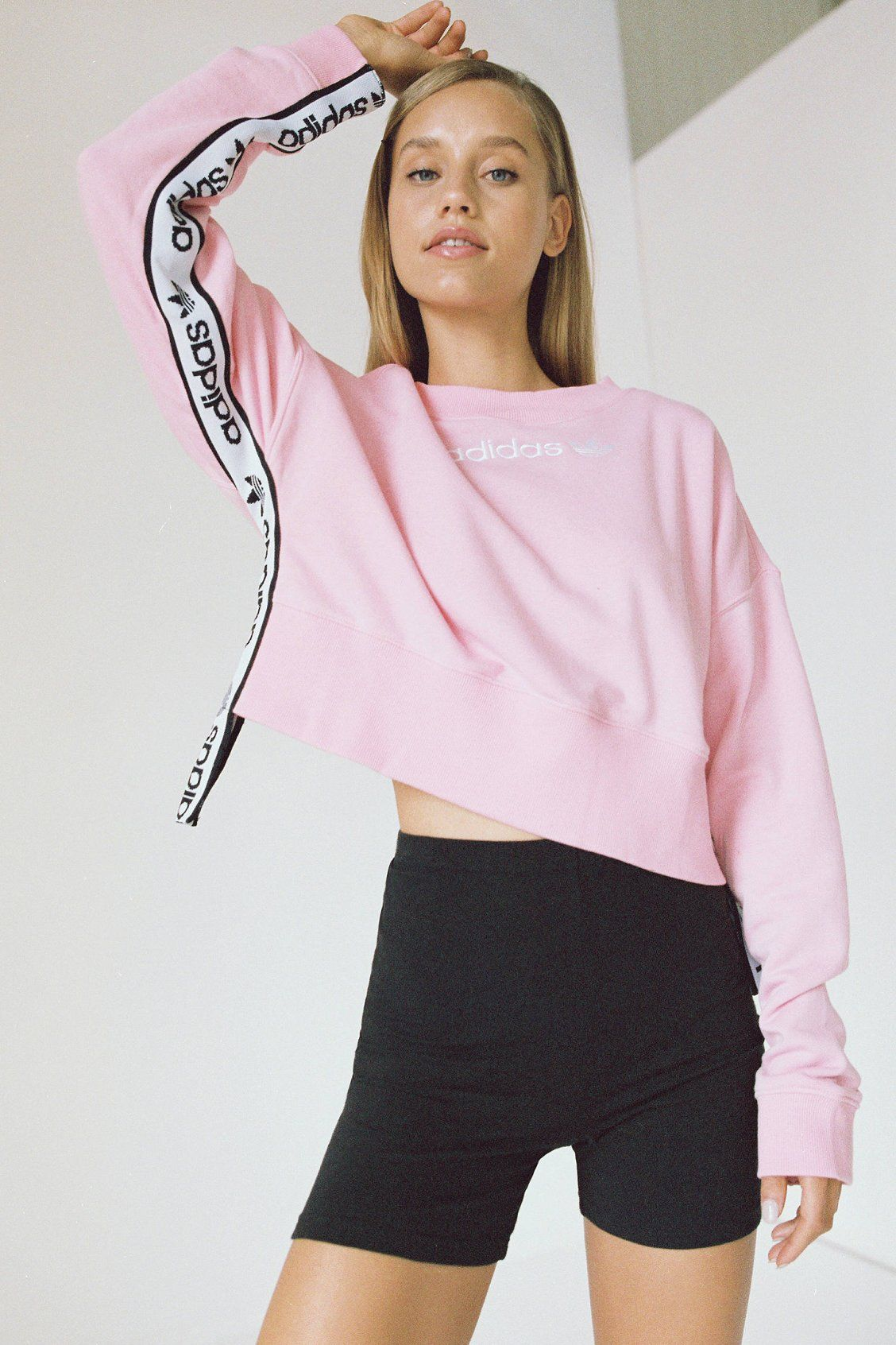 adidas Originals Side Tape Cropped Sweatshirt | Fashion