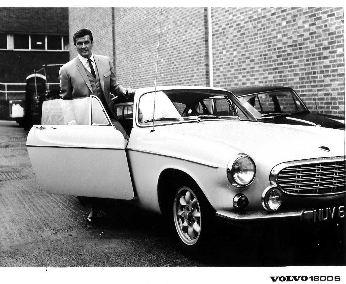 Roger Moore And The Volvo P1800 From Saint