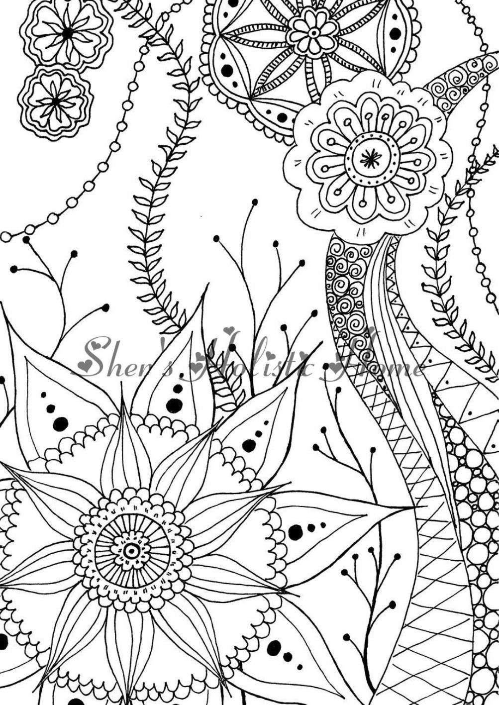 Mandala Coloring Page Kids Coloring Page Flower Coloring Page
