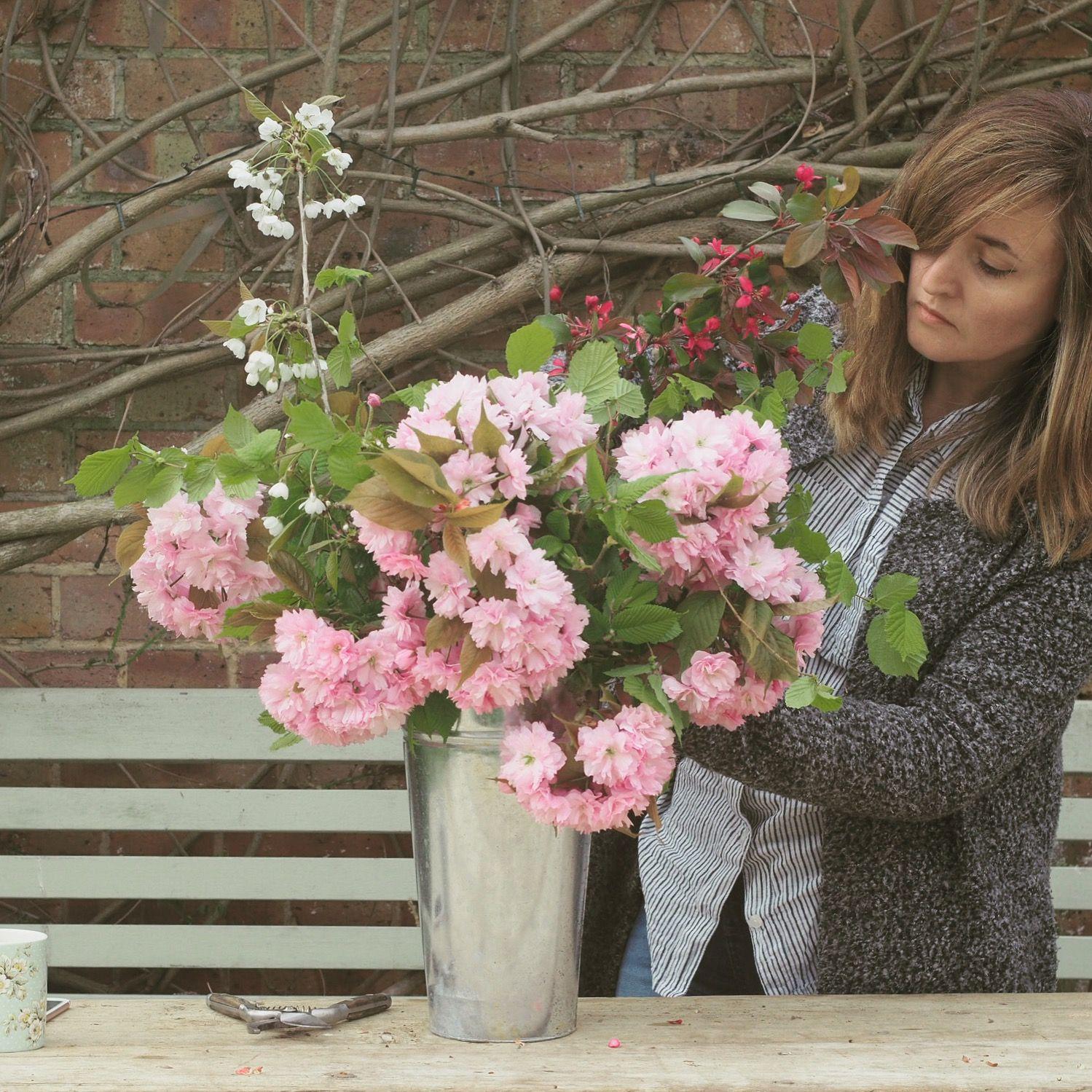 Popup flower stall. British flowers, Seasonal flowers