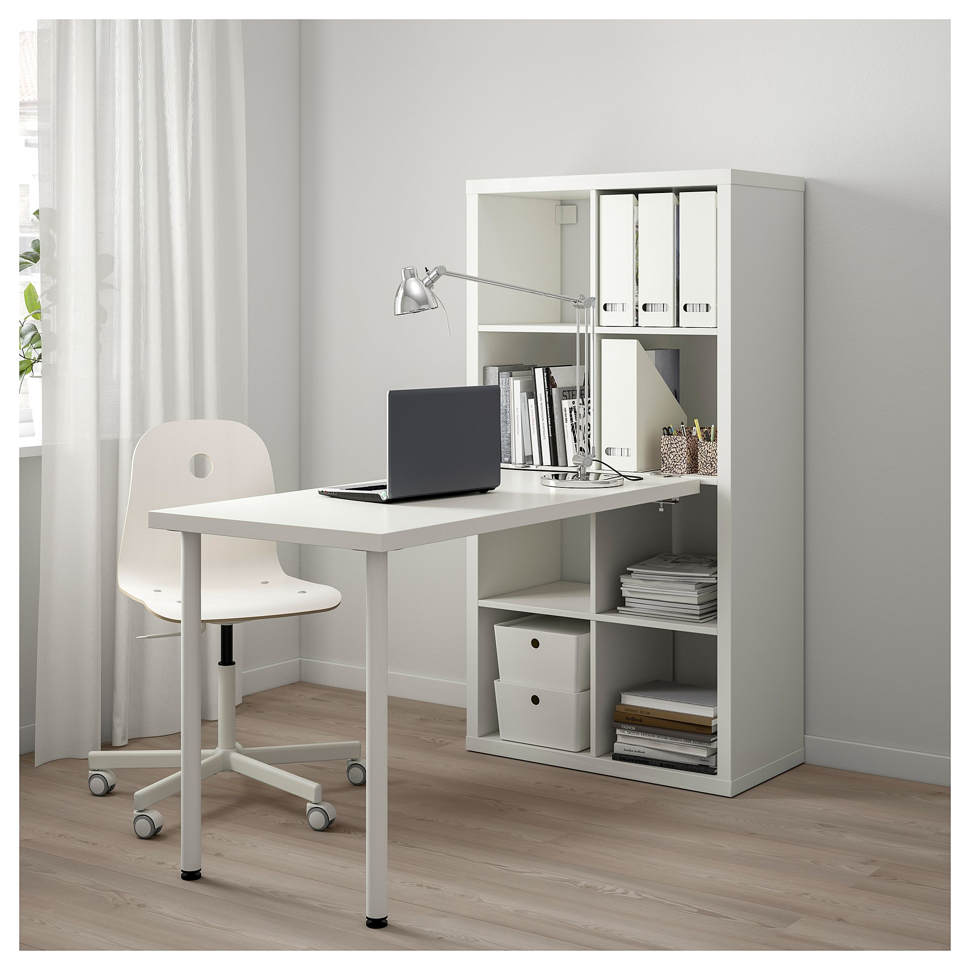 IKEA KALLAX Desk combination white Home office design