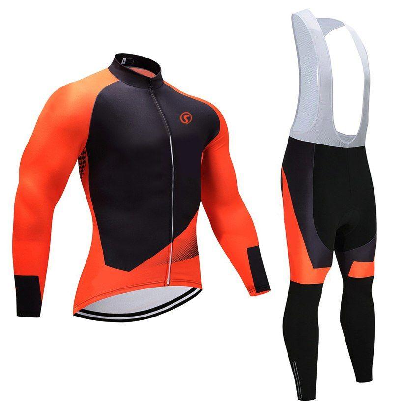 New cycling season pro bike jersey 9D gel pad bicycle pants set Orange MTB  Ropa Ciclismo long sleeves pro bicycling Maillot wear 91e77f0a2