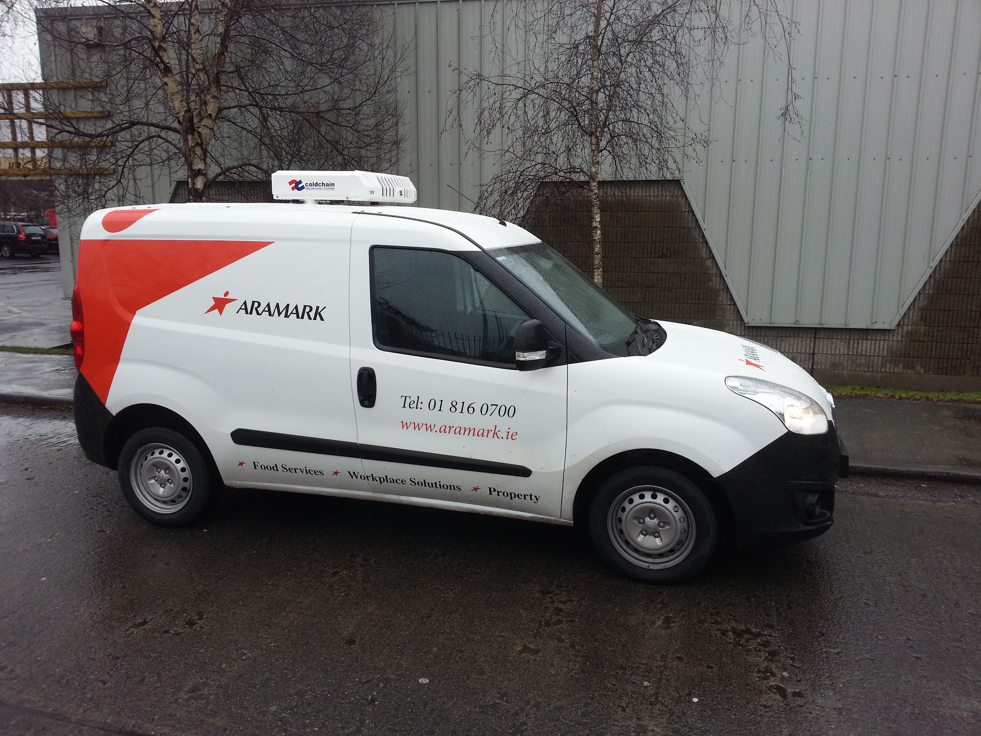 ee9c5d05c3 Opel Combo Refrigerated by Coldchain for Aramark Food Services ...