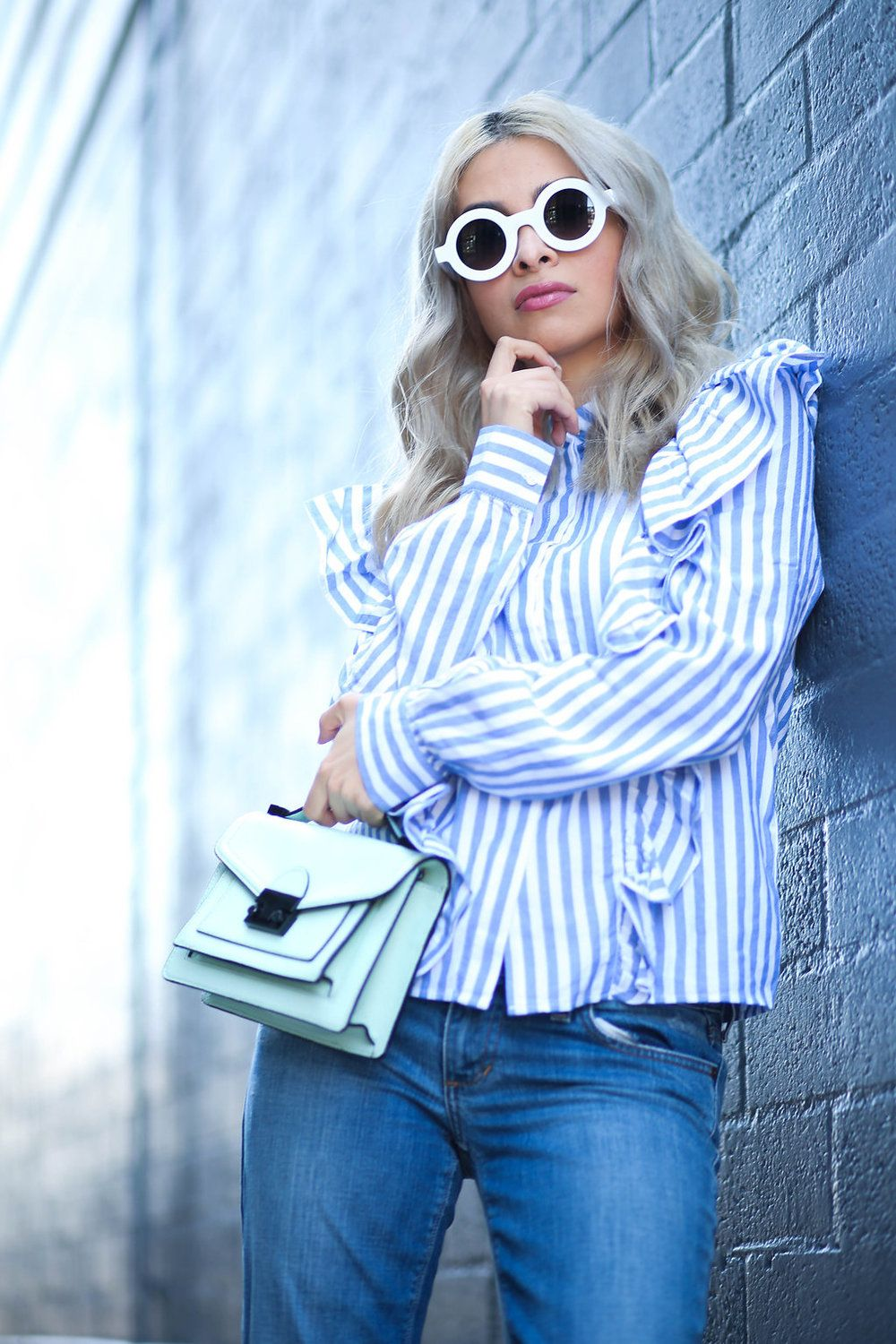 68e999ee424c7 Savvy Javvy  TRENDY BLOGGER WOMENS FASHION THICK ROUND SUNGLASSES 8980