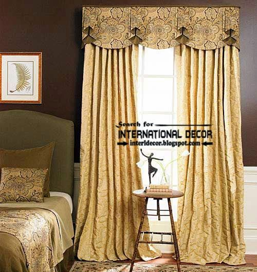 english style curtains for bedroom and window valances | curtain