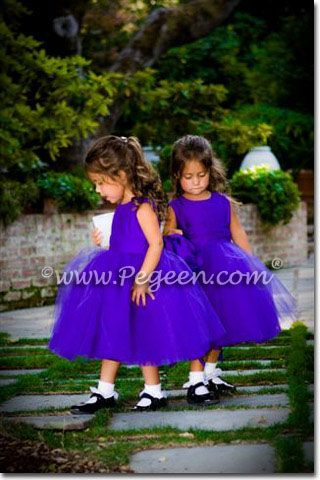 Purple flower girl! (I'll only have one but she will be the cutest.)