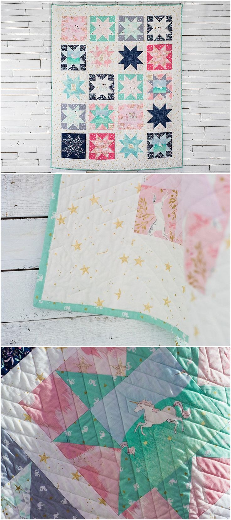 Moderne Quilts Magic Stars Quilt Kit By Sarah Jane Featuring Michael Miller Magic