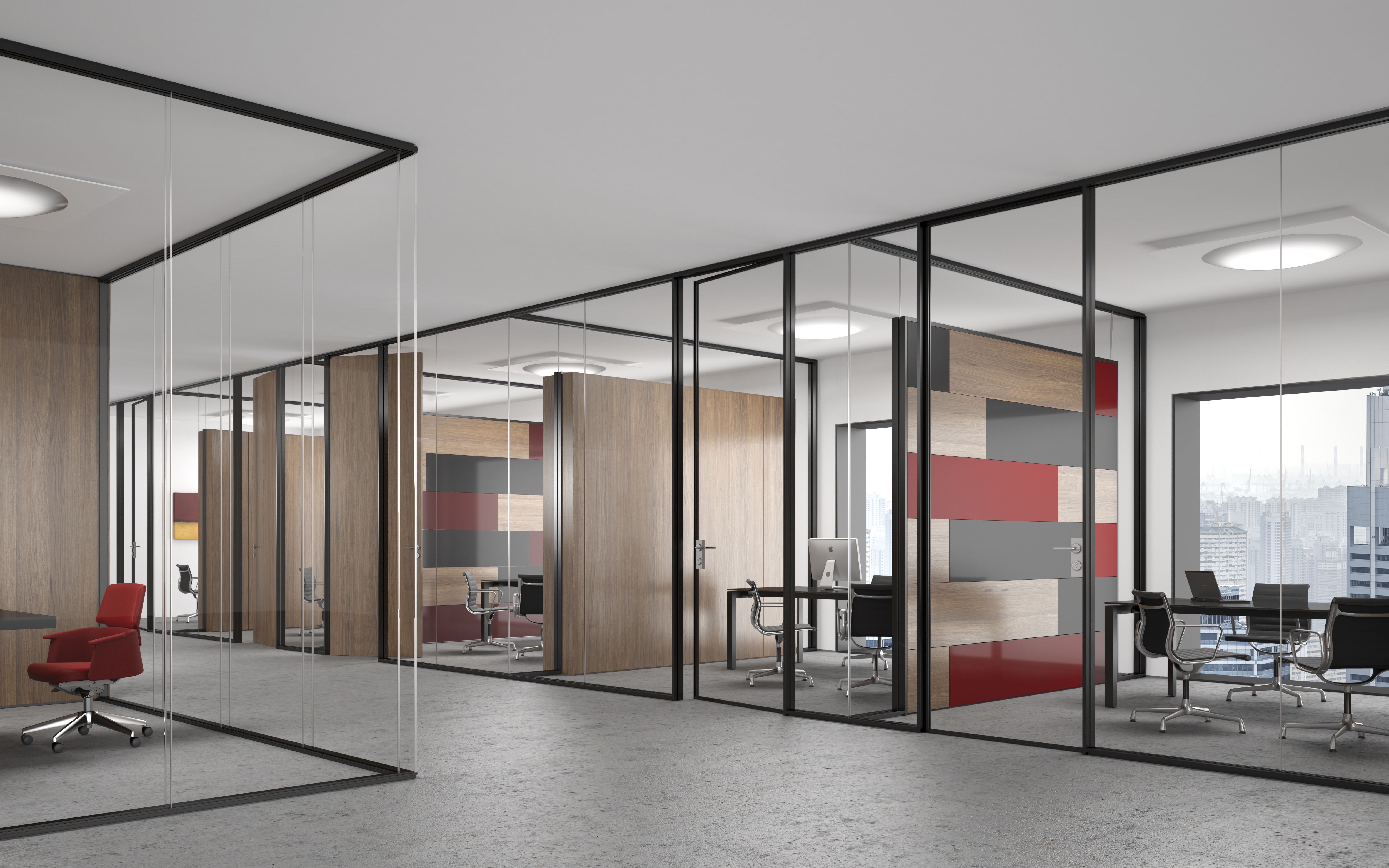 Incroyable URBAN OFFICE U003e Flat One10 | The Natural Anodized Profiles Harmonise With  The Shapes And Neutrality