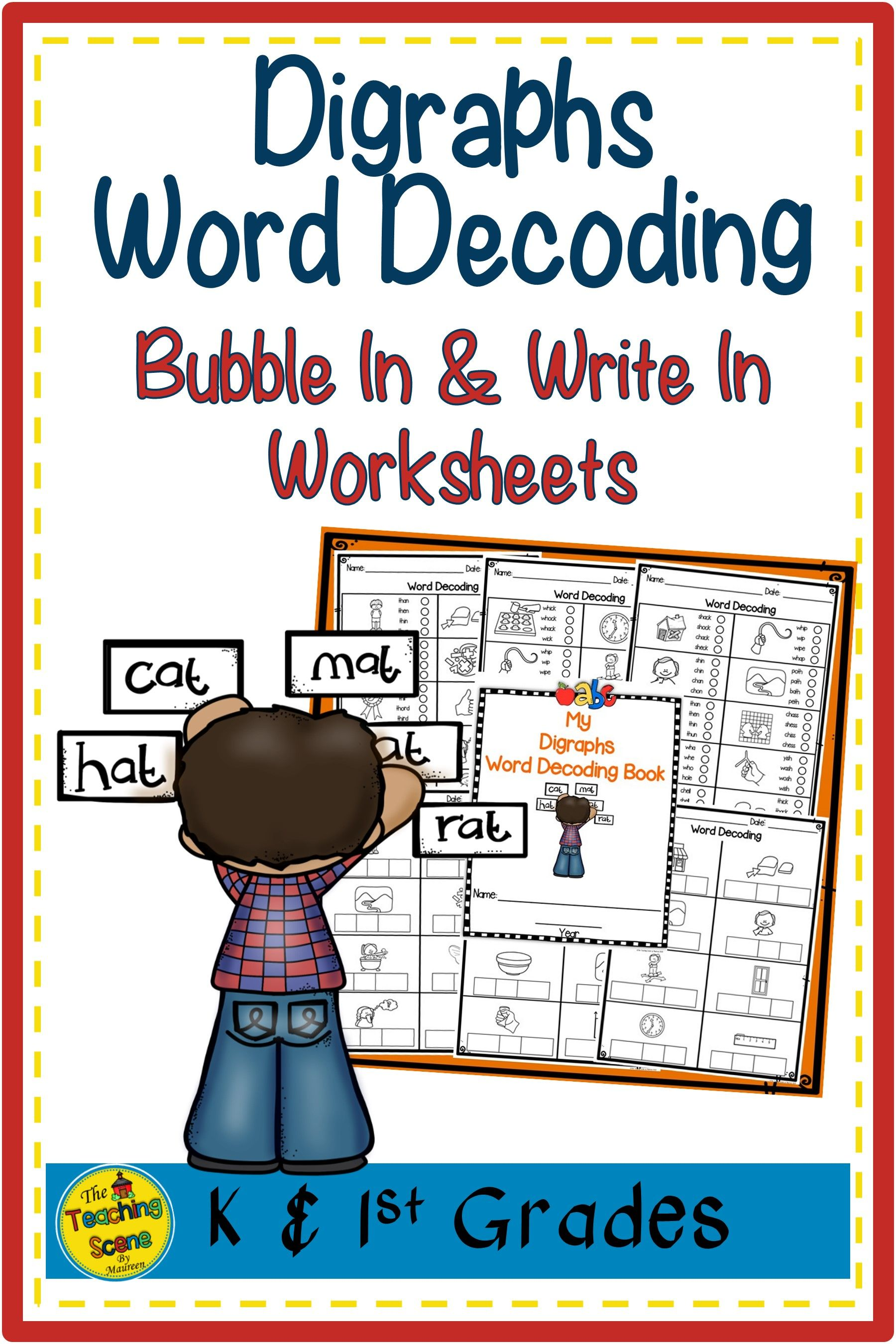 Digraphs Word Decoding Worksheets Amp Assessments