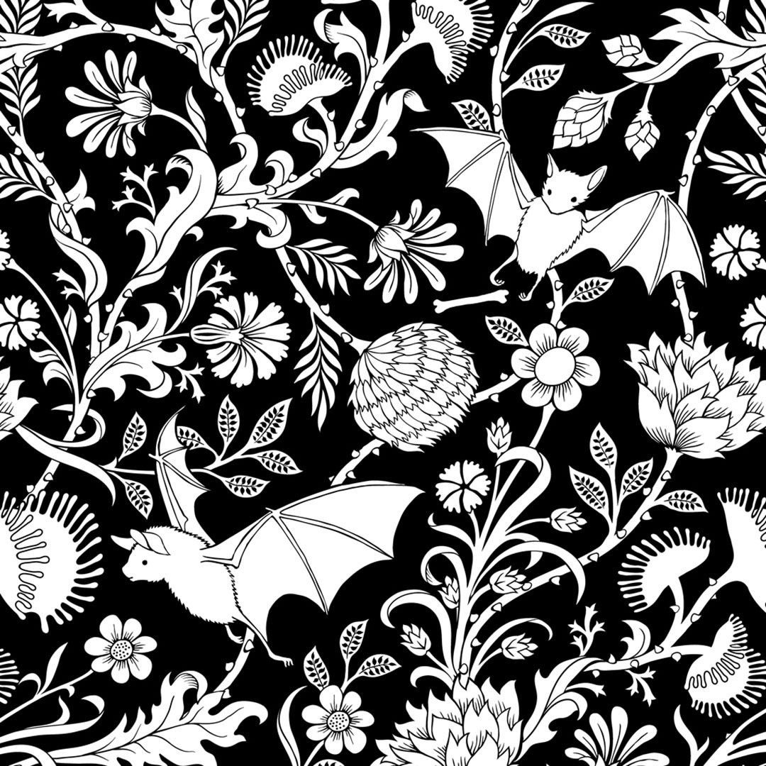 Elysian Fields Curtains And Valances Botanical Prints Goth Home