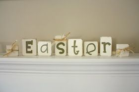 COUNTRY GIRL HOME : Easter Blocks