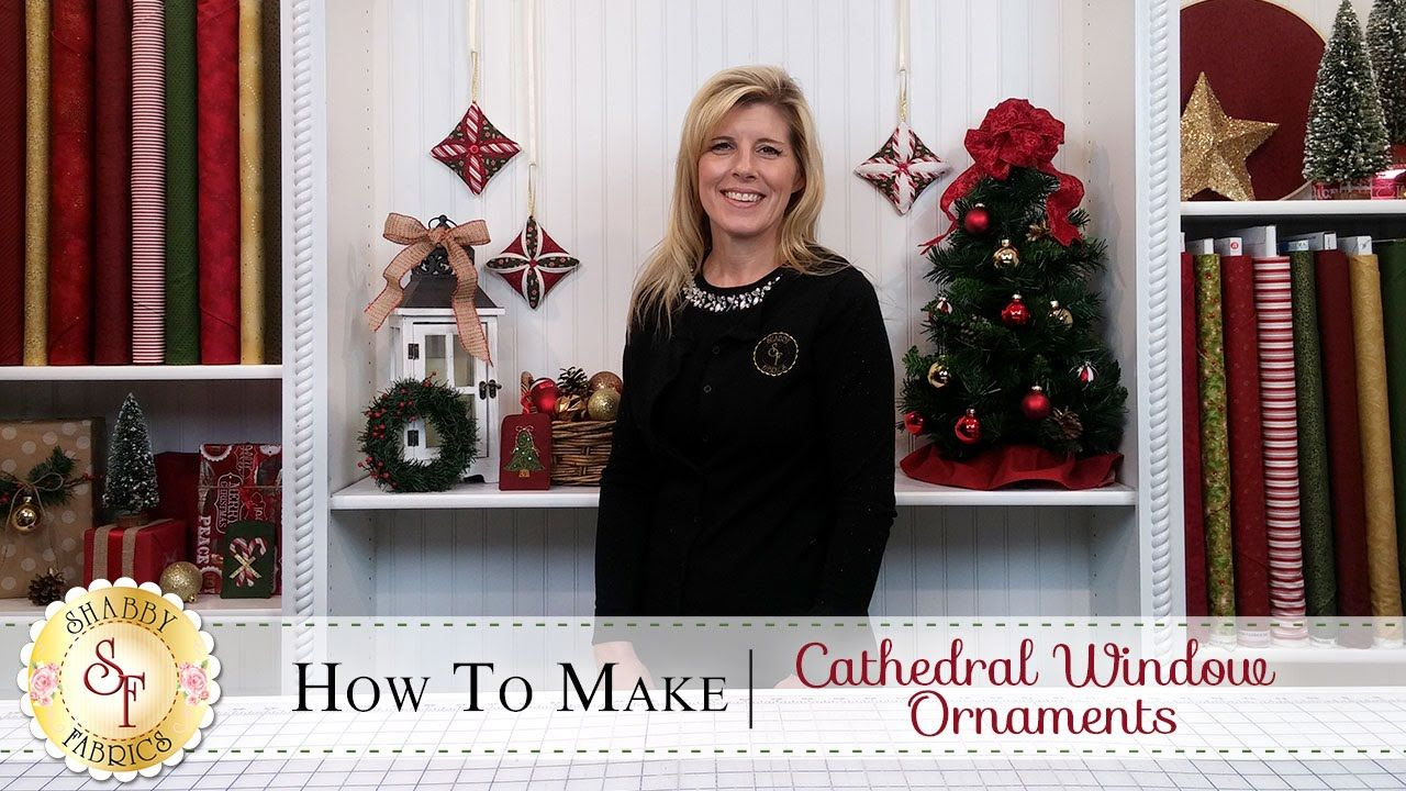 Folded fabric christmas tree pattern - In This Tutorial Jen Shows You How To Add The Perfect Homemade Touch To Your Christmas Tree With These Festive Cathedral Window Ornaments