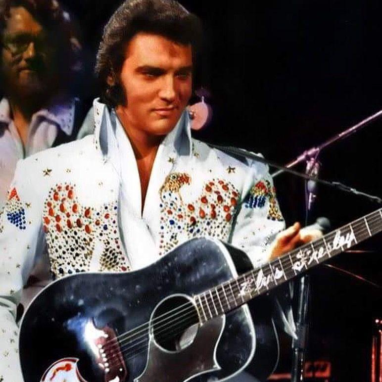 TK (Saint Blues cofounder) and Elvis! In 1969 Vernon