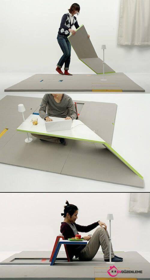 Stilvolle und moderne OrigamiMöbelproben Hauptanordnung