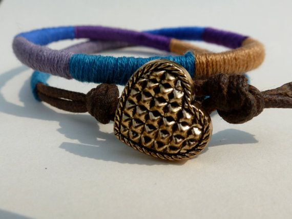 Double Thread Wrap Bracelet Cotton Thread by CraftsbyBrittany, $10.00