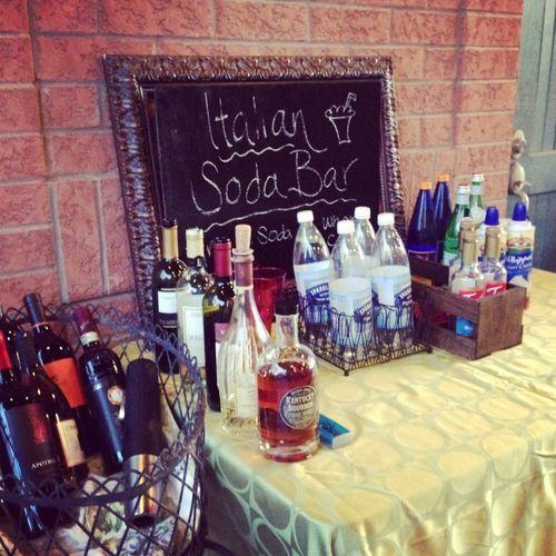 Soda Bar - Italian Themed Party