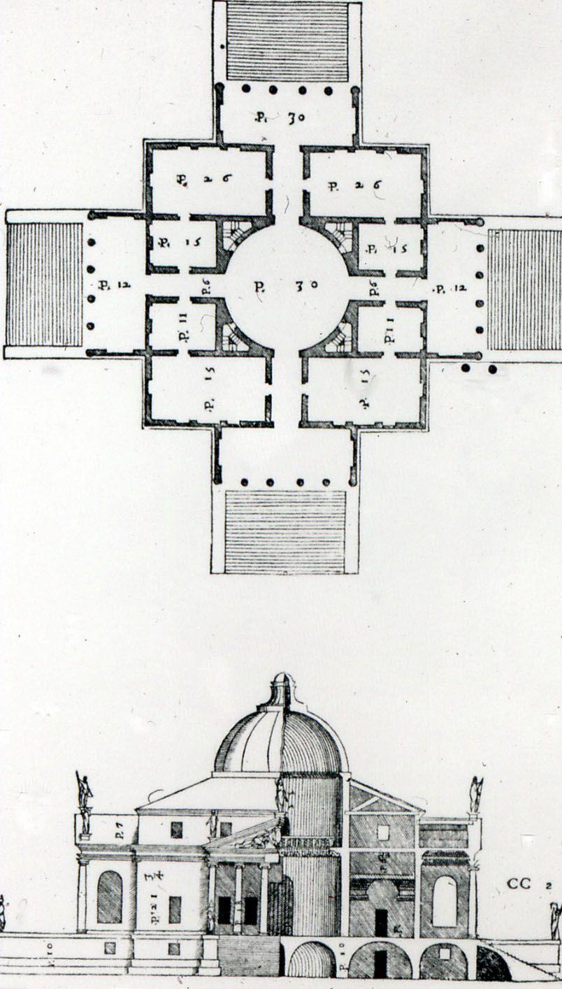 Andrea Palladio Villa Rotonda Vicenza Begun 1566 Plan