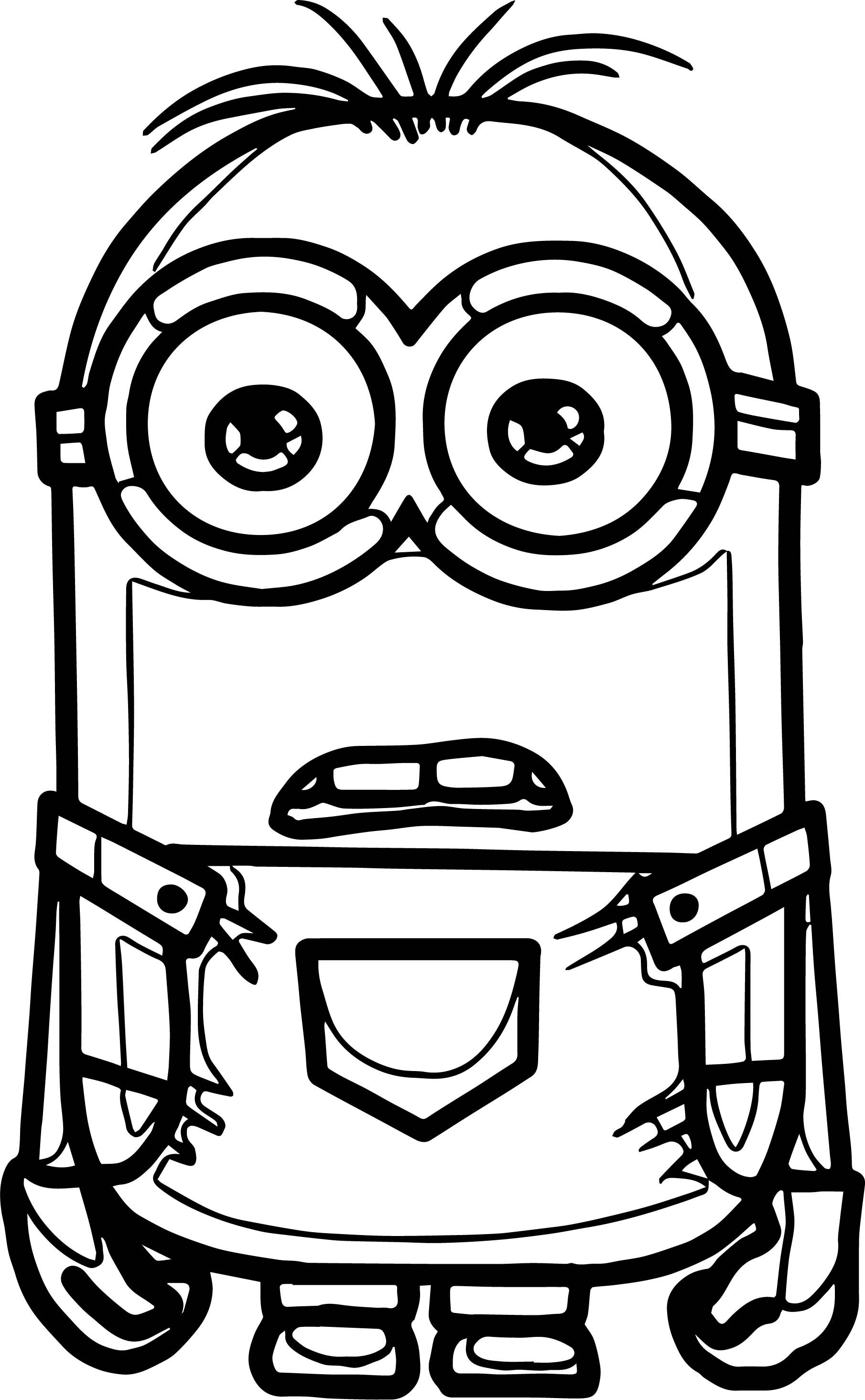 Awesome Minion Stuart What The Coloring Page