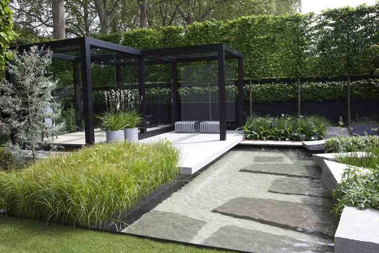 Jardin moderne 5 tendances de l ann e 2015 jardin for Parterre jardin moderne