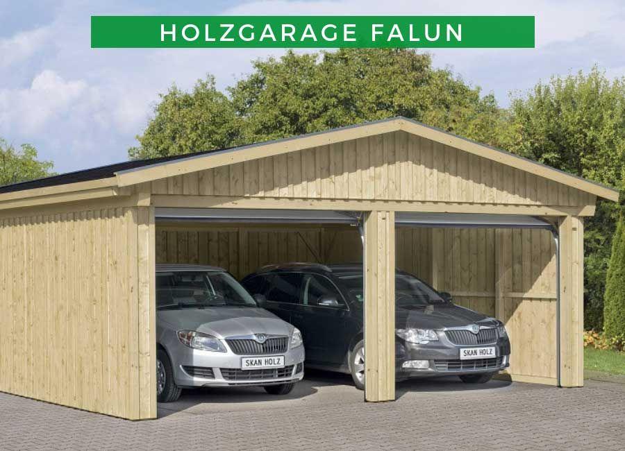 Holzgarage Falun 2 Mit Dachlattung Holzgarage Carports Carport Aus Aluminium